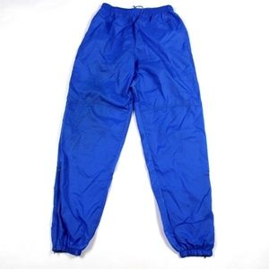 Vintage Nike Spell Out Nylon Joggers Pants Blue M
